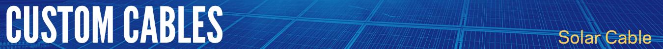 custom solar cable