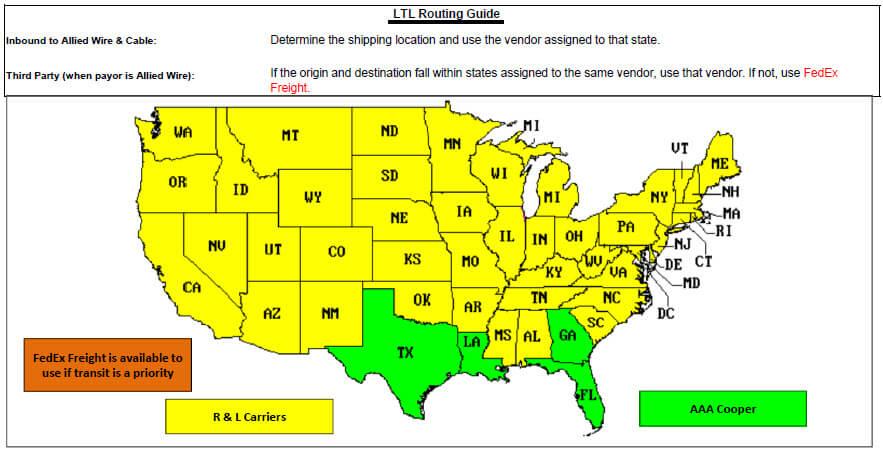 Florida LTL Routing Guide