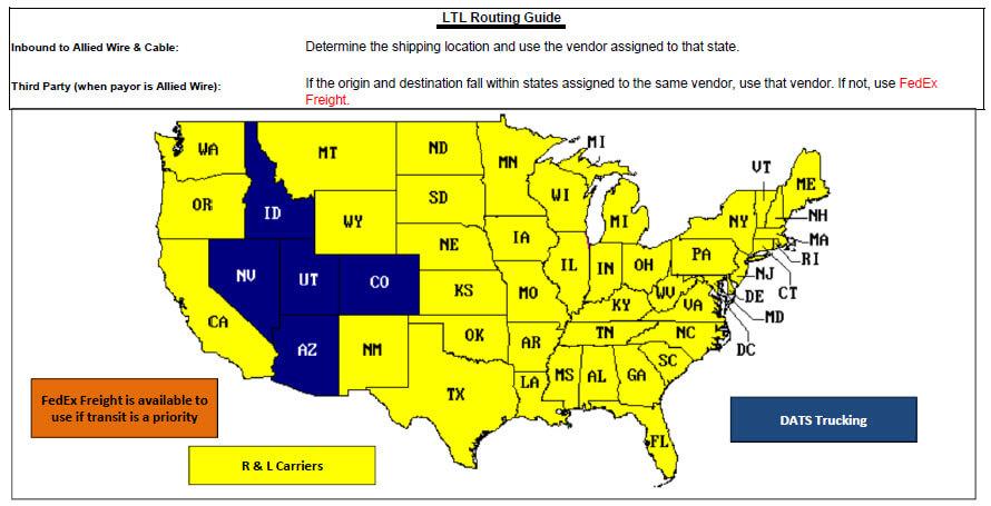 Arizona LTL Routing Guide