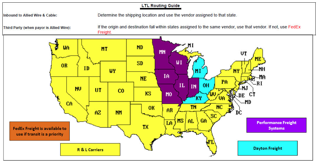 Wisconsin LTL Routing Guide