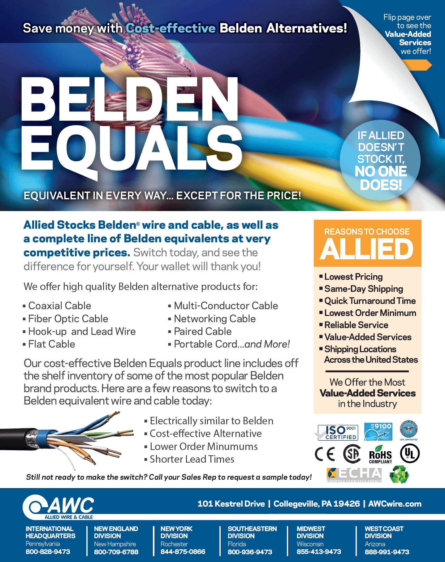 Belden equals Line Card from Allied Wire & Cable